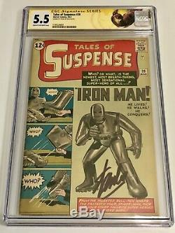TALES OF SUSPENSE #39 CGC 5.5 SS STAN LEE 1st Appearance Iron Man