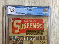 TALES OF SUSPENSE #39 (Iron Man 1st app. & origin) CGC 1.8 OWithW Never Pressed