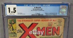 THE X-MEN #1 (First appearance & Origin) CGC 1.5 Marvel Comics 1963 Uncanny