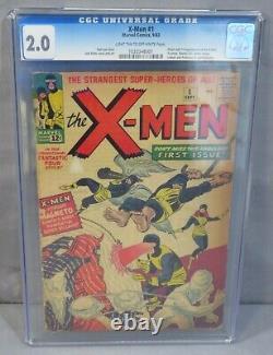 THE X-MEN #1 First appearance & Origin CGC 2.0 GD Marvel Comics 1963 Uncanny