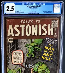 Tales To Astonish #27 (1962) Cgc 2.5 1st Appearance Of Ant-man! Megakey