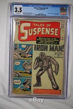 Tales of Suspense #39 1st Iron Man Marvel CGC 3.5 Major Key Comic