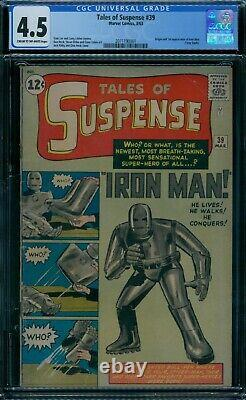 Tales of Suspense 39 CGC 4.5 1st Iron Man