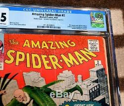 The Amazing Spider-Man 2 (1963) DOUBLE COVER CGC! 1st Vulture Only 1 Left