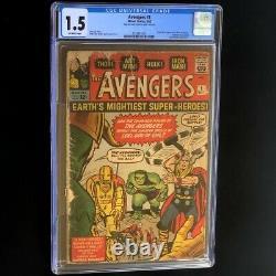 The Avengers #1 (1963) CGC 1.5 OW Origin & 1st Appearance! KEY Comic