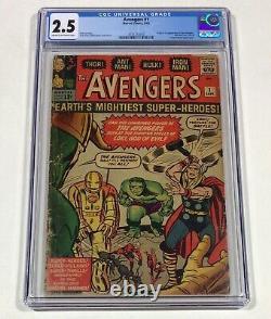 The Avengers #1 CGC 2.5 MEGA KEY! (Origin & 1st Avengers!) 1963 Marvel