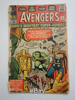 The Avengers #1 CGC. 5 Stan Lee! Origin & First Appearance of Avengers! 1963