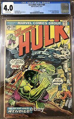The Incredible Hulk (#180,181,182) 1st Wolverine Cameo & Full Appearance