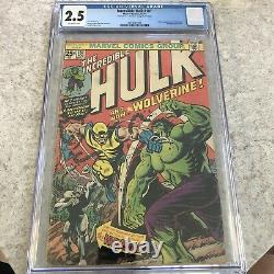 The Incredible Hulk 181 CGC 2.5 1st APP OF WOLVERINE! KEY