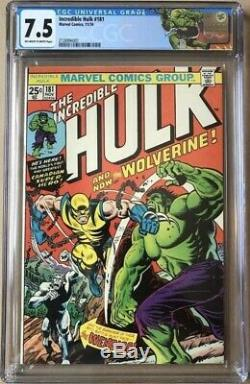 The Incredible Hulk #181 CGC 7.5 1st Full Appearance of Wolverine
