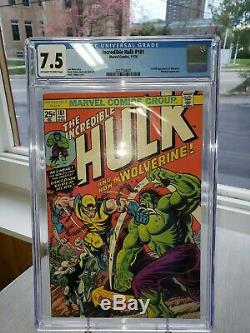 The Incredible Hulk #181 CGC Certified 7.5 1st Full Appearance of Wolverine