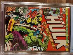 The Incredible Hulk #181 Marvel 11/1974 CGC CBCS 8.5 White pages looks NM 9.0+