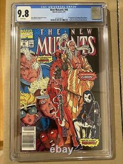 The New Mutants #98 CGC 9.8 Newsstand 1st Deadpool