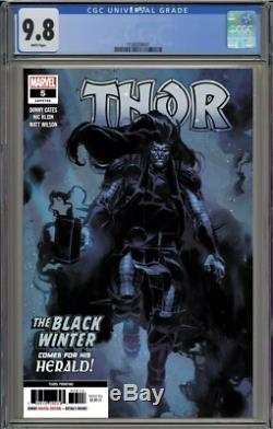 Thor 5 3rd Print Cgc 9.8 Donny Cates 1st Full Appearance Black Winter 2020 Nm