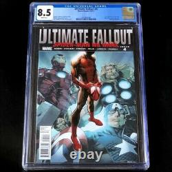 ULTIMATE FALLOUT #4 CGC 8.5 1st Print 1st App Miles Morales Marvel 2011