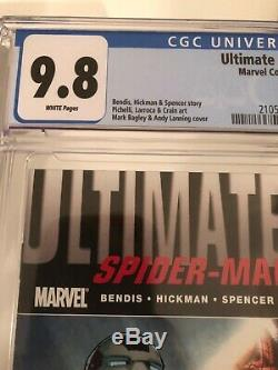 ULTIMATE FALLOUT #4 CGC 9.8 WHITE PAGES 1ST PRINT FIRST MILES MORALES Marvel