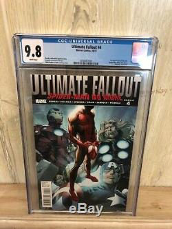 Ultimate Fallout #4 CGC 9.8 1st Print 1st App New Spider-Man Miles Morales