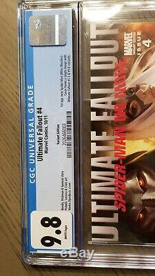 Ultimate Fallout #4 Variant CGC 9.8 1st Miles Morales