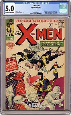 Uncanny X-Men #1 CGC 5.0 1963 2088269002 1st app. X-Men