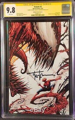 Venom #2 Cgc Ss 9.8 Donny Cates Tyler Kirkham Virgin Variant Spider-man Carnage