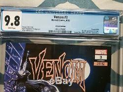Venom #3 CGC 9.8 125 Variant 1ST APPEARANCE OF KNULL