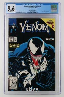 Venom Lethal Protector #1 CGC 9.6 NM+ Marvel 1993 Black Error Variant