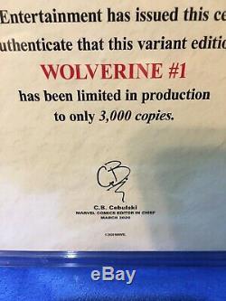 WOLVERINE #1 2020 CGC 9.8 John Christopher Variant C2E2 Exclusive 3000 Copys