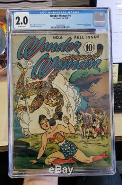 WONDER WOMAN #6 (1943) CGC Grade 2.0 First appearance of CHEETAH