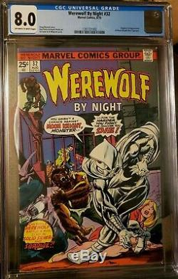 Werewolf By Night #32 Cgc 8.0 1st App Moon Knight