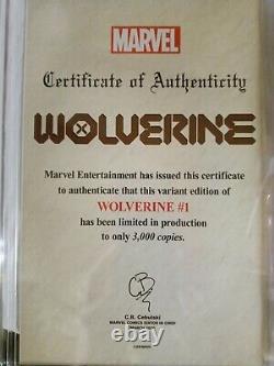 Wolverine #1 John Tyler Christopher Neg Variant CGC 9.8 White Pages 1296/3000