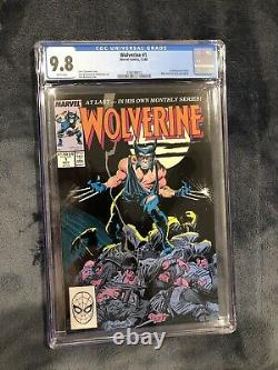 Wolverine 1 Marvel 1988 CGC 9.8 White pgs Claremont 1st as Patch Freshly Graded