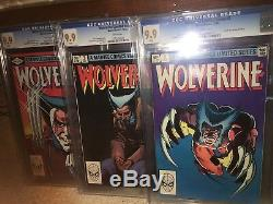 Wolverine Limited Series #1 #2 #3 All CGC 9.9! 1982 SET! Not 9.8! X-Men G11 cm