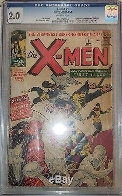 X-MEN #1 CGC 2.0 First Appearance X-men and Magneto