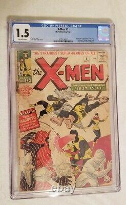 X-Men 1 1963 CGC 1.5 1st X-Men, Cyclops, Jean Grey, Iceman, Beast, Magneto