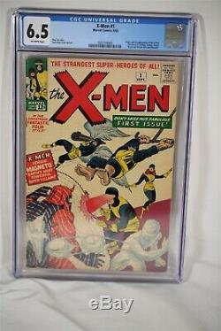 X-Men #1 1963 CGC Graded 6.5 Origin & 1st Appearance Stan Lee, Jack Kirby Comic