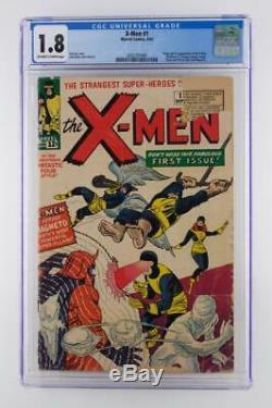 X-Men #1 CGC 1.8 GD- Marvel 1963 ORIGIN & 1st App X-Men
