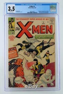 X-Men #1 CGC 3.5 VG- Marvel 1963 1st App(s) & ORIGIN(s) of XMen & Magneto