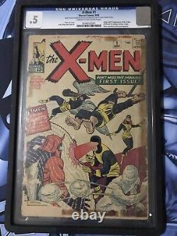 X-Men #1 (Marvel, 1963) CGC. 5 Origin & 1st appearance of the X-Men Free Shipping