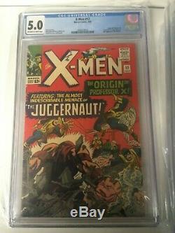 X-Men #12 7/65 Marvel Comics 5.0 OFF-WHITE TO WHITE (1st Juggernaut)