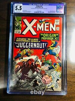 X-Men #12 CGC 5.5! Origin Professor X (restored) 1st Juggernaut HOT MCU Key