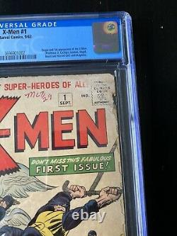 X-men 1 CGC 2.0 OW To White 1963 1st X-Men And Magneto Unrestored Universal