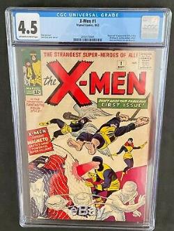 X-men #1 CGC 4.5 1963 Off-White to White Pages 2050170001