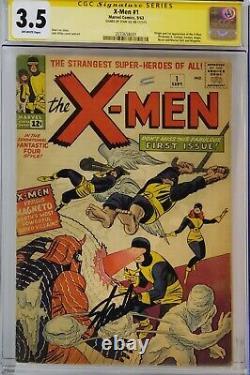 X-men #1 Cgc 3.5 Ss Signed Stan Lee 1st X-men Magneto Super Nice Signature