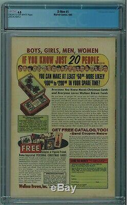 X-men #1 Cgc 4.0 1st X-men Cream To Off-white Pages 1963