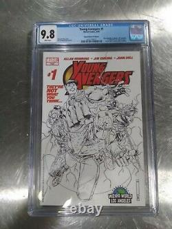 YOUNG AVENGERS #1 CGC 9.8 WHITE Wizard World WWLA Con Edition Sketch Variant HOT